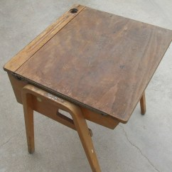 Wooden School Chairs Chair Lifts For Home Use Great Old Desk Complete With Graffiti