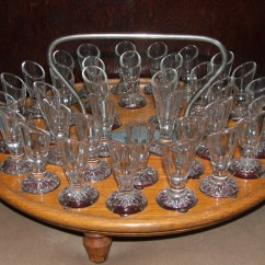 Glass Kitchen Table Set Premade Islands Communion | Collectors Weekly