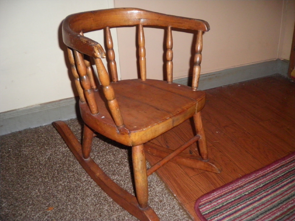 Small Rocking Chair Old Small Childs Rocker Collectors Weekly