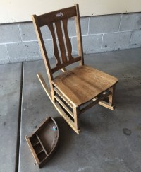 Rocking Chair with Sewing Drawer