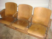 Vintage Antique Theater Chairs (set of 3) | Collectors Weekly