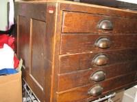 Gorgeous Antique Dark Oak Architect's Flat File Cabinet ...