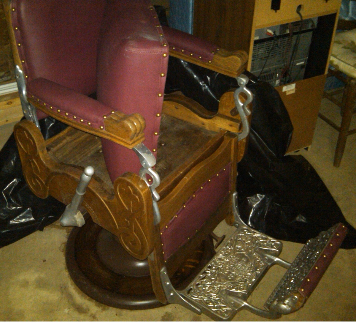 koken barber chair french provincial styles 19xx collectors weekly