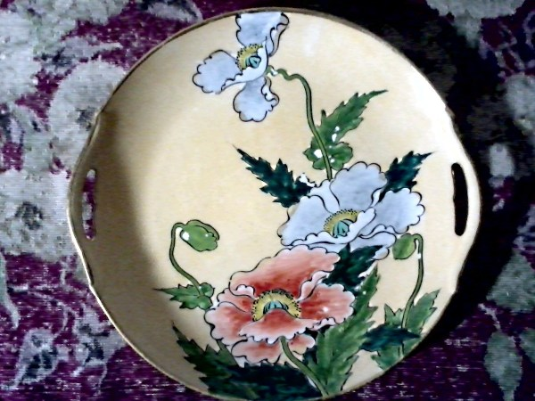 Japanese Royal Kaga Nippon Porcelain Serving Plate Hand
