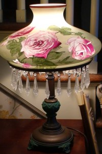 Victorian Lamp With Hand-Painted Roses | Collectors Weekly