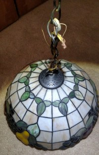 Stained Glass Hanging Fruit Lamp | Collectors Weekly