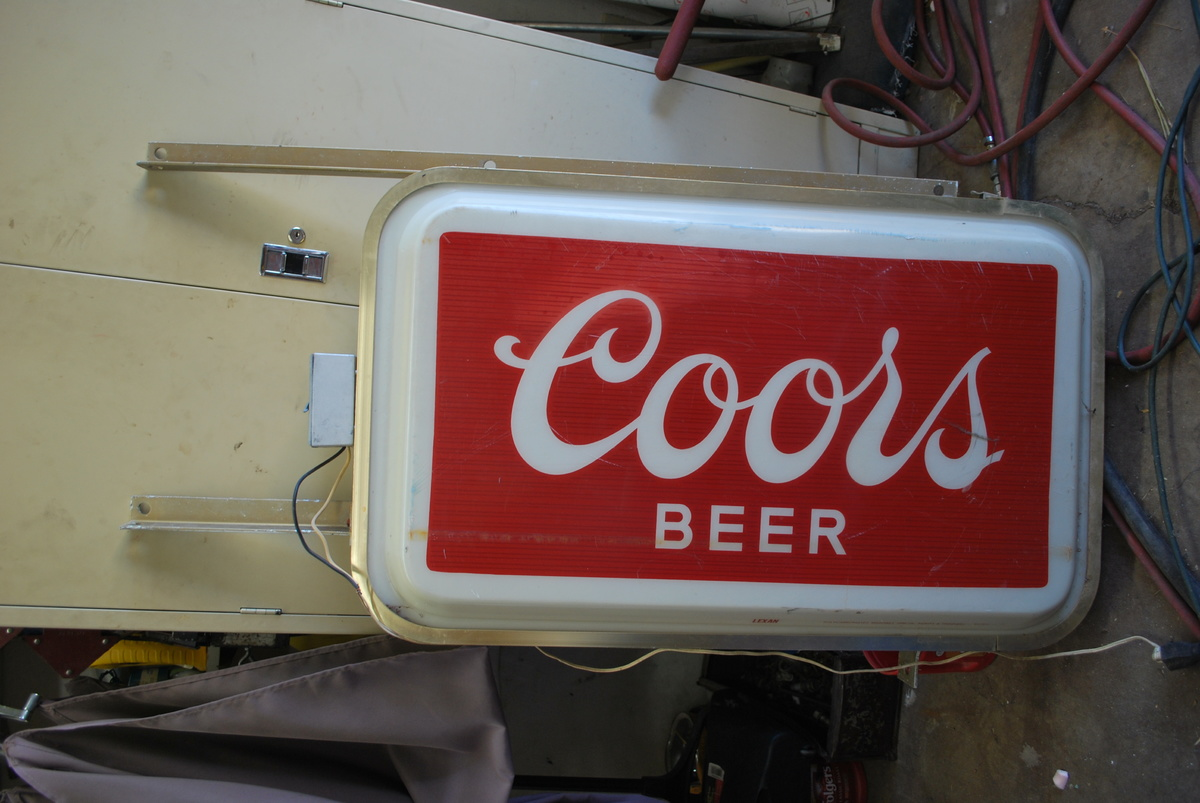 coors light chair outdoor patio glider chairs commercial lighted sign collectors weekly