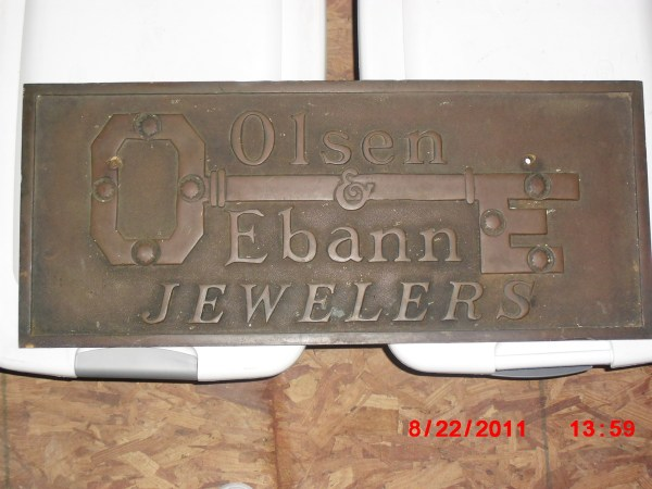 Olsen & Ebann Jewelry Store Sign Collectors Weekly