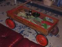 Wood Coaster Wagon Coffee Table | Collectors Weekly