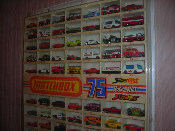 Matchbox Transitional Cars Case Advertised