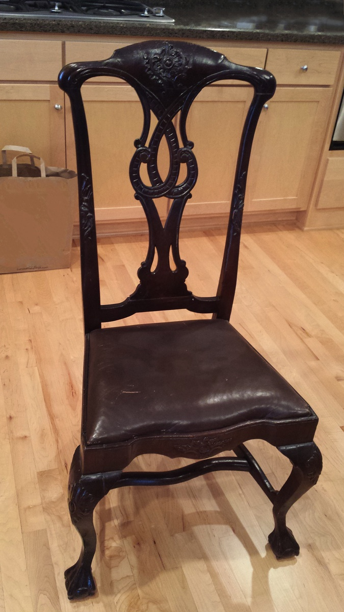 Antique ball & claw foot chair