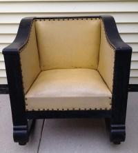 Antique Empire Cube Chair Rocker | Collectors Weekly