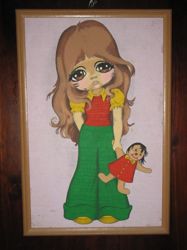 "1000 Vintage ""big Eyed"" Art Big Eyes Paint Number And Kitsch"