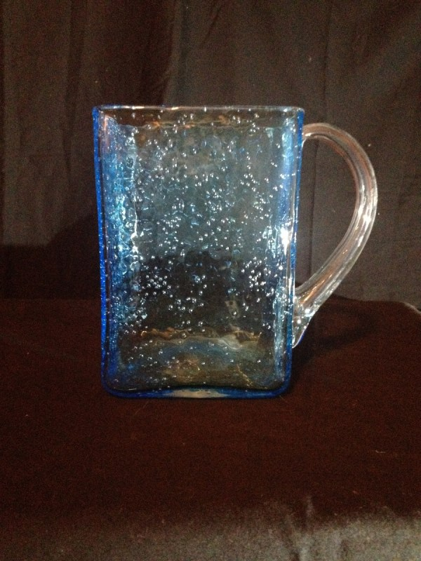 Hand Blown Bubble Glass Vase