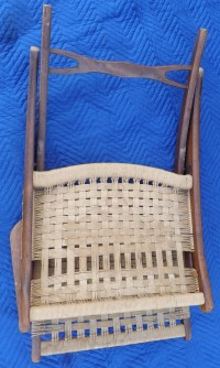 Mid Century Modern Rope Woven Chair Fold up with Arms ...