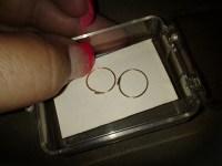14k Self piercing hoop earrings | Collectors Weekly