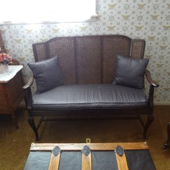 Cane Sofa Bed Second Hand 2 Seater Beds Antique Couch Rocking Chair Frame And Buffet