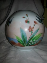 Antique Hand Painted Oil Lamp Globe | Collectors Weekly