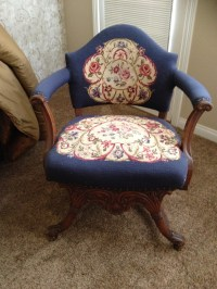 Antique Needlepoint chair | Collectors Weekly