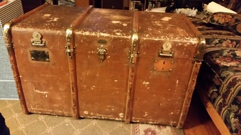Antique Mystery Trunk Anyone Know Anything About It