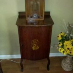 Century Kitchen Cabinets Exhaust Hood Antique Sheet Music Cabinet & Vintage Radio | Collectors ...