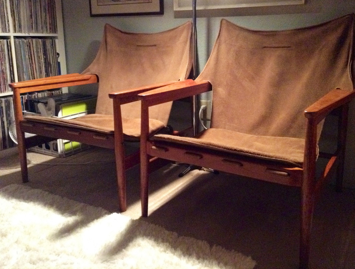 Safari Chair Hans Olsen Leather Sling Safari Chairs Collectors Weekly