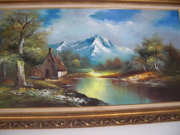 Vintage .whitman Beautiful Landscape Oil Painting