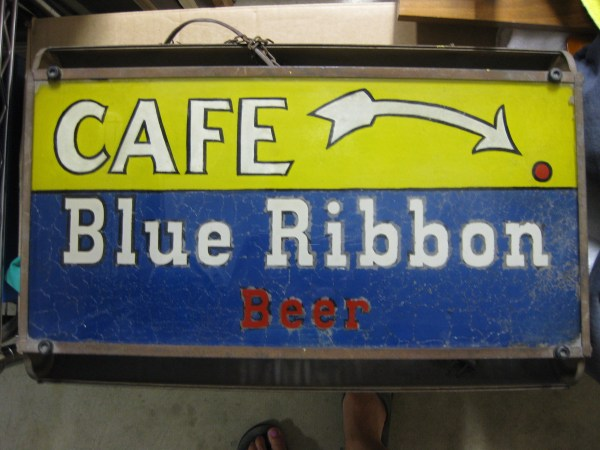 "Blue Ribbon ""cafe"" Sign Collectors Weekly"