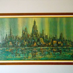 Sofa Paintings Abstract Manstad Bed With Storage Brittini Print Cityscape Collectors Weekly