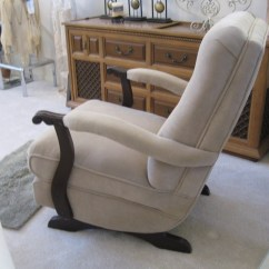 Kids Upholstered Rocking Chair Eames Herman Miller Platform Rocker 1950's | Collectors Weekly