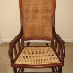 How To Recane A Chair Indoor Lounge Chairs Big Wood And Cane Rocking | Collectors Weekly