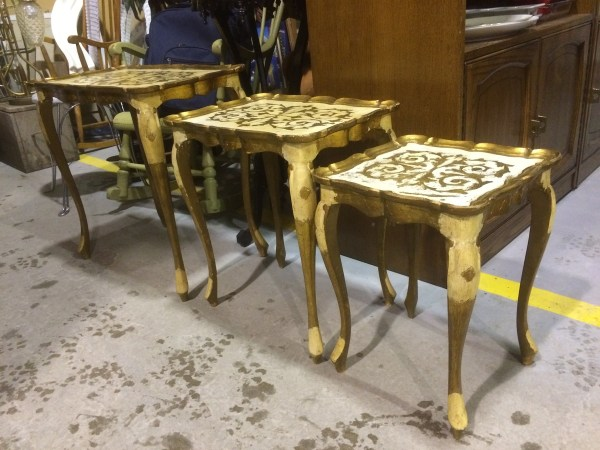 Italian Gold Leaf Coffee Table