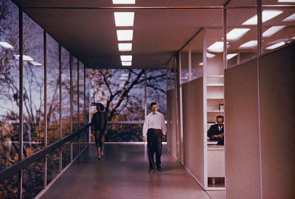 A model for IBM's Thomas J. Watson Research Center in Yorktown Heights, New York, circa late 1950s. Photos by Balthazar Korab, via the Library of Congress.