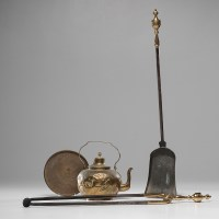 Brass Kettle & Fireplace Tools | Cowan's Auction House ...