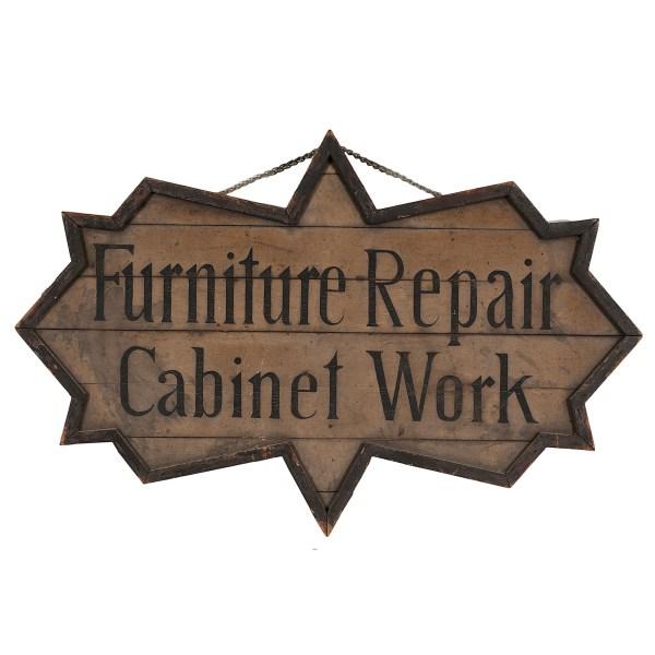 Furniture Repair Trade Sign Cowan' Auction House