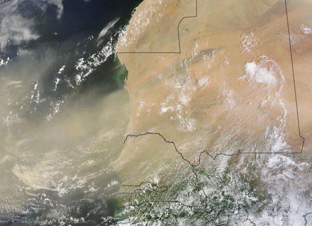 sahara dust storm nasa