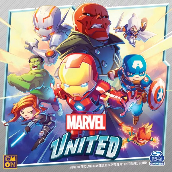 Marvel United, CMON Limited / Spin Master Ltd., 2021 — front cover (image provided by the publisher)