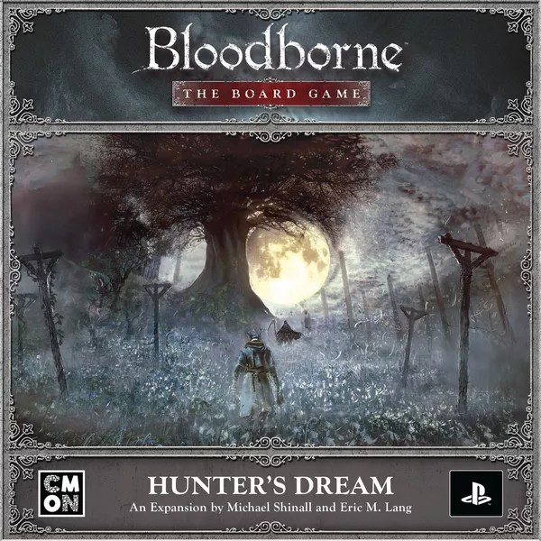 Bloodborne: The Board Game – Hunter's Dream, CMON Limited, 2021 — front cover (image provided by the publisher)