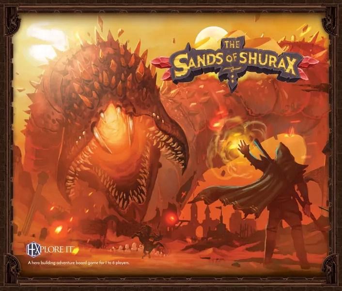 Original image of Hexplore It: The Sands of Shurax box cover, courtesy of Mariucci J. Designs
