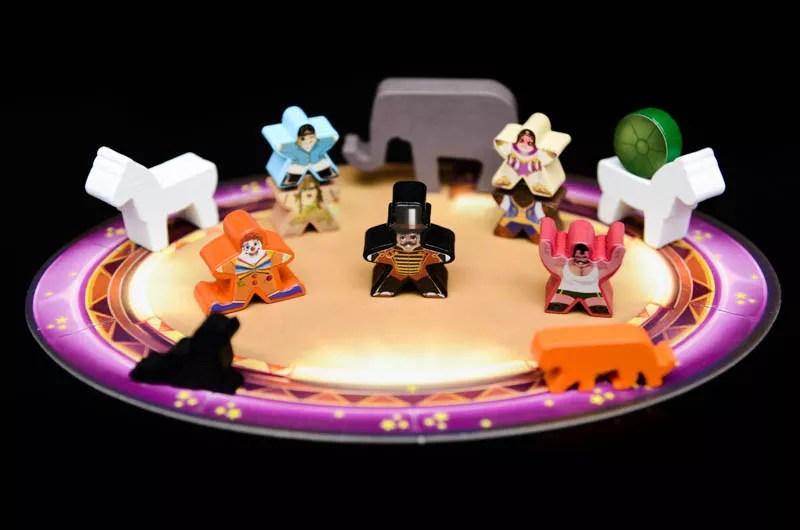meeple circus juego de mesa