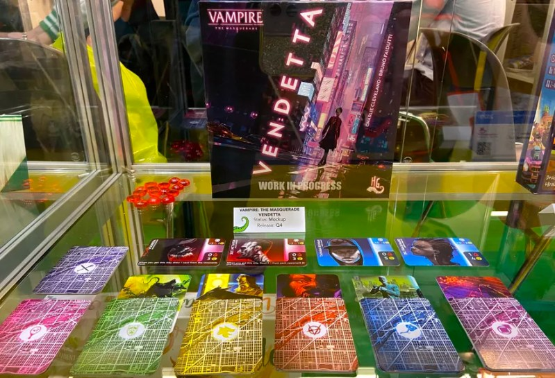 Vampire: The Masquerade – Vendetta, Horrible Guild, 2020 — mock-up on display at Spielwarenmesse 2020