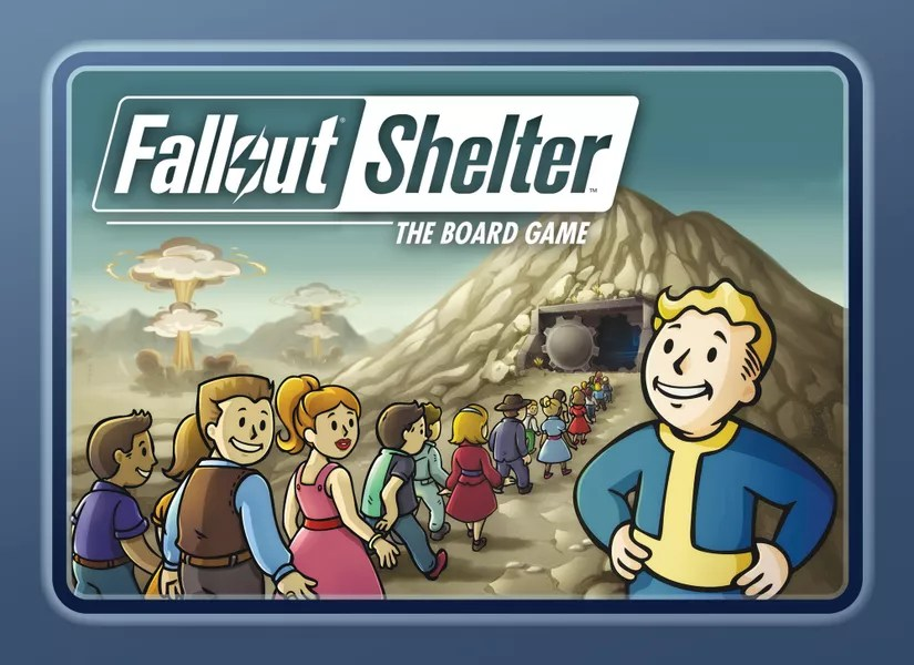 Fallout Shelter: The Board Game, Fantasy Flight Games, 2020 — front cover (image provided by the publisher)