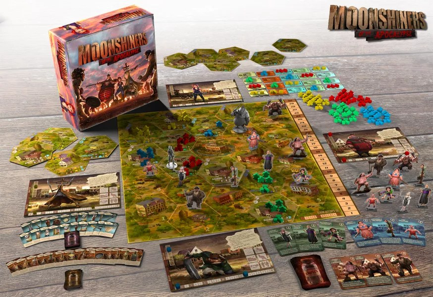 Moonshiners of the Apocalypse juego de mesa