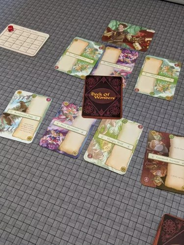 Deck of Wonders on the table