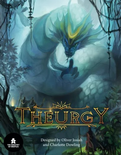 The cover art as on the front of the box for Theurgy.