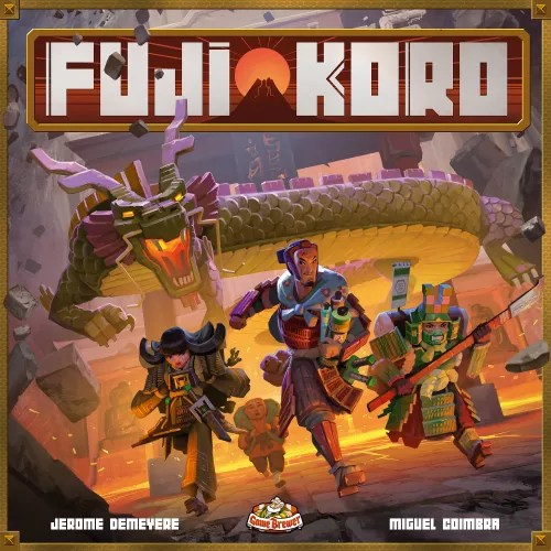 Fuji Koro Box Cover. Art by Miguel Coimbra. ©Game Brewer 2019. Artwork may be subject to change.