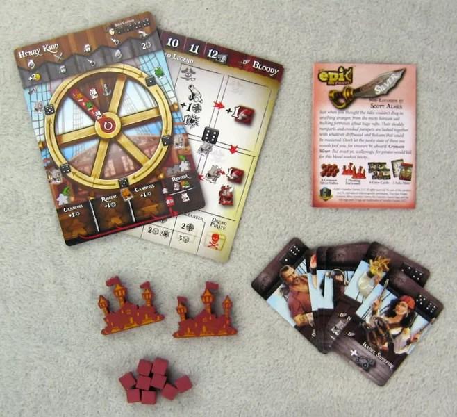 Tiny Epic Pirates: Crimson Silver - contents