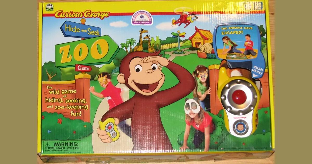 Curious George Hide And Seek Zoo Game Board Game