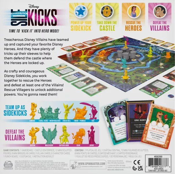 Disney Sidekicks, Spin Master Games, 2021 — back cover (image provided by the publisher)