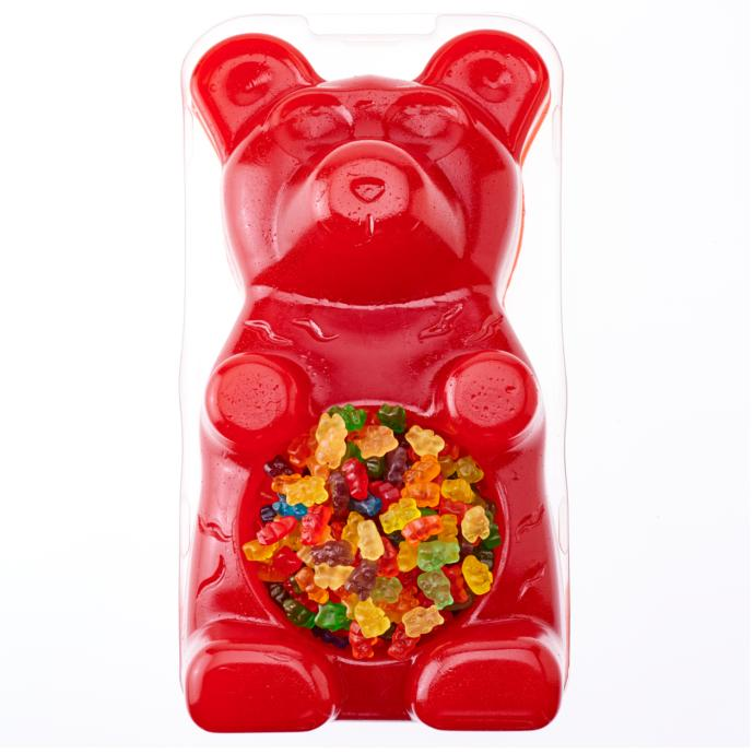 Someone gives you this giant 27 lb gummy bear with gummy ...